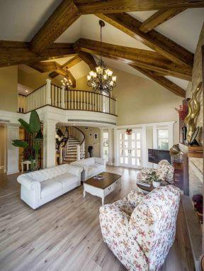 別墅客廳裝修設計圖 美式田園別墅裝修 美式田園別墅裝修圖片