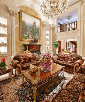 新古典客廳效果圖 新古典別墅客廳裝修效果圖