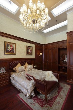 別墅主臥裝修效果圖 美式主臥室裝修效果圖
