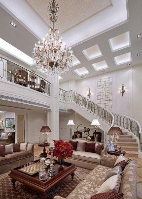別墅客廳樓梯裝修設計圖 別墅客廳樓梯裝修效果圖