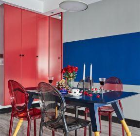 混搭風格新房餐廳色彩搭配效果圖片-每日推薦