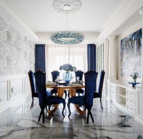法式別墅餐廳吊頂燈裝修設計圖片-每日推薦