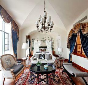 高端別墅主臥室沙發裝修設計效果圖-每日推薦