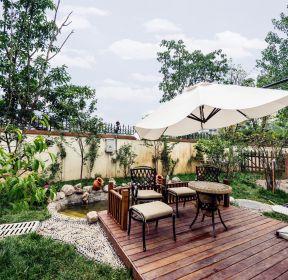 美式別墅庭院花園裝修設計實景圖-每日推薦