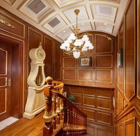 奢華別墅樓梯間吊頂裝修設計實景圖-每日推薦