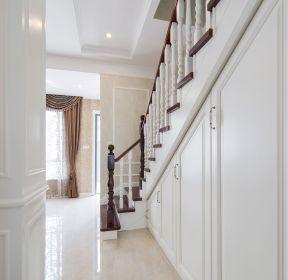 歐式別墅樓梯間收納柜裝修設計圖-每日推薦