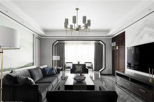 万博豪庭三居102平欧式风格装修案例