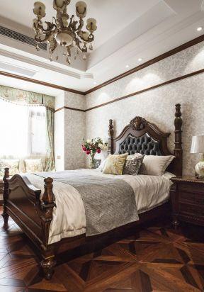 美式臥室床頭背景墻 美式臥室壁紙圖片 美式臥室裝修效果圖片