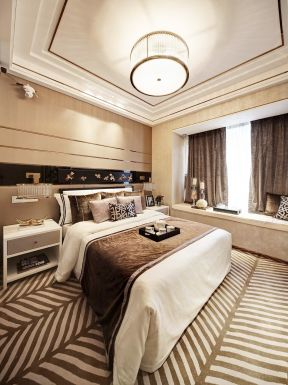 新古典臥室效果圖 新古典臥室背景墻設計