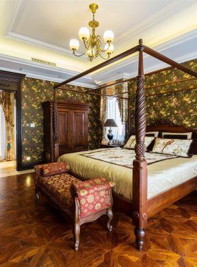 美式臥室裝飾效果圖 臥室壁紙裝修效果