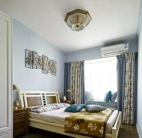田園風格房屋臥室窗簾裝修效果圖大全-每日推薦