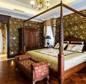 美式風格臥室四柱床裝修設計圖片-每日推薦