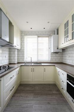 130平方新房裝修U型廚房設計實景圖