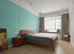北歐風格新房裝修主臥室背景墻圖片