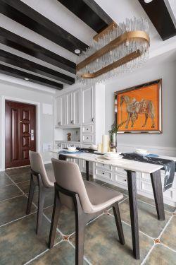 美式風格新房裝修餐廳設計圖大全