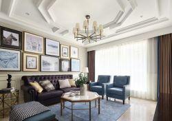 美式新房裝修客廳背景墻圖片大全