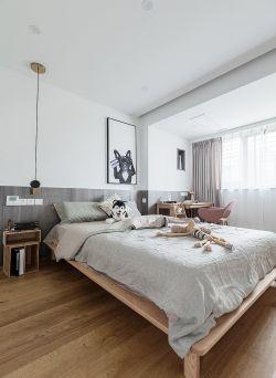 北歐風格新房裝修臥室木地板圖片