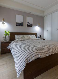 100平新房裝修臥室床頭背景墻圖片