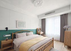 北歐風格新房裝修臥室床頭背景墻圖片