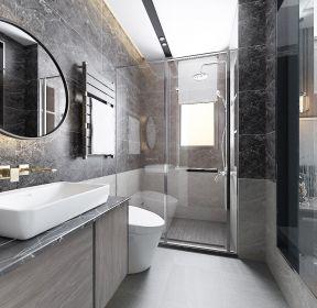 現代簡約新房裝修衛生間干濕隔斷設計圖-每日推薦