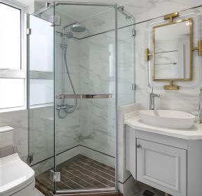 簡歐風格新房裝修衛生間淋浴房隔斷設計圖-每日推薦