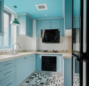 新房裝修廚房藍色櫥柜設計效果圖-每日推薦