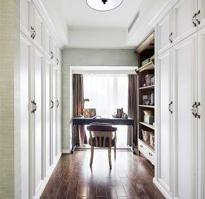 135平美式新房裝修室內書桌圖片-每日推薦