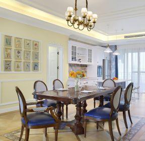 美式大戶型新房裝修餐廳背景墻效果圖-每日推薦