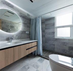 現代風格新房裝修衛生間浴簾隔斷圖片-每日推薦