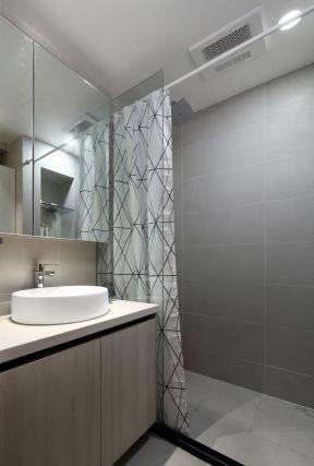 衛生間隔斷裝修效果 浴簾隔斷