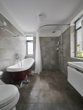 衛生間浴簾隔斷 衛生間浴簾裝修效果圖 衛生間隔斷裝修效果