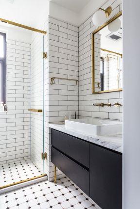 衛生間隔斷圖片大全 小戶型衛生間浴室柜