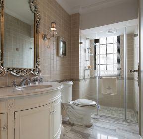 法式新房衛生間干濕分離隔斷圖片-每日推薦