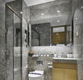 樣板房衛生間玻璃移門隔斷效果圖片-每日推薦