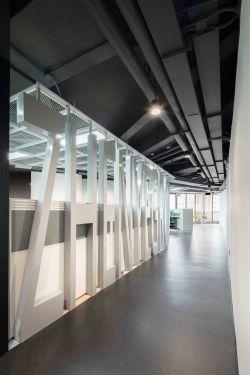 東莞公司辦公室走廊形象墻設計圖片