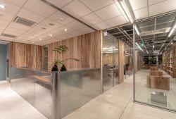 東莞公司辦公室前臺裝修設計實景圖片