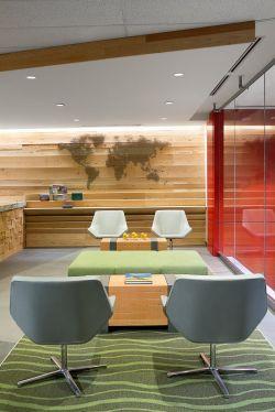 東莞辦公室接待區沙發裝修設計效果圖片