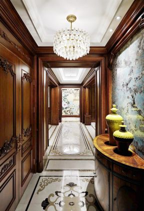 美式玄關圖片大全 走廊玄關裝飾