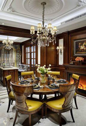 美式餐廳裝修設計效果圖片 別墅餐廳裝修效果圖