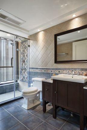 美式衛生間瓷磚 美式衛生間裝修效果圖大全圖片 浴室柜圖片大全