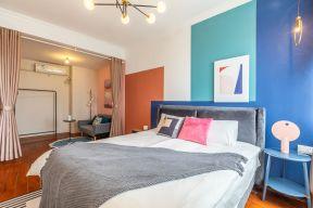 卧室背景墙设计图 混搭卧室装修图片