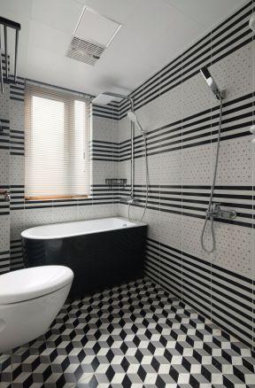 卫生间背景墙 卫生间浴缸效果图