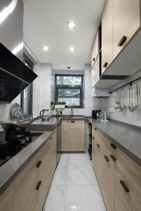 u型厨房装修设计效果图 北欧厨房装修效果图
