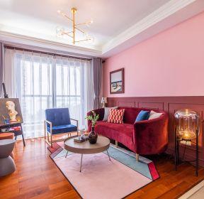 130平方新房客厅色彩搭配装饰效果图-每日推荐