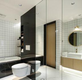 北欧风格房子卫生间上墙马桶设计图-每日推荐