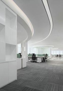 科技公司辦公室天花板裝修設計圖