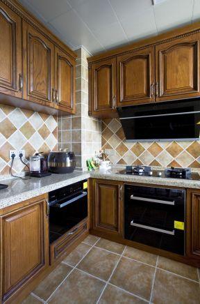 美式廚房效果圖 美式廚房裝潢