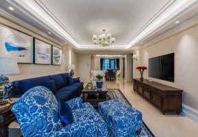 美式客廳電視柜 美式客廳吊頂裝修效果圖 美式客廳吊頂圖