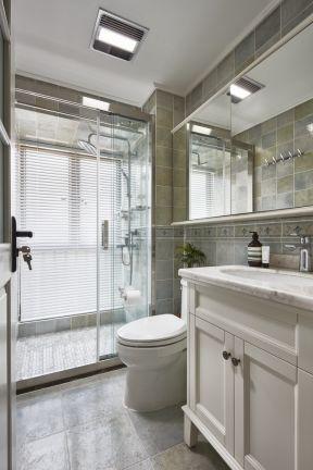 簡約美式衛生間裝修效果圖 衛生間干濕分離裝修設計