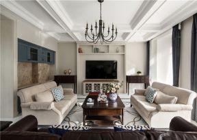 美式客廳裝修實景圖 客廳沙發裝飾